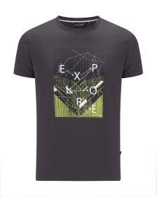Moška T-shirt Majica Otley Temno Siva