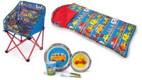 Set Otroški Stol, Spalna Vreča & Jedilni set Promet