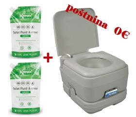 Set WC Kemični Portaflush 10 in 2x Sanitarna Tekočina Green