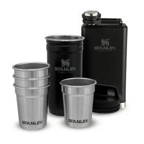 Set Prisrčnica in Kozarci Adventure Shot Glass & Flask Set Črn