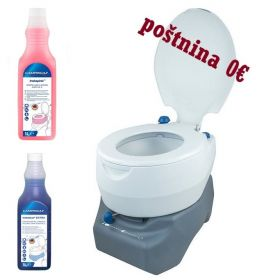 Set Kemični WC Combo 20L in Sanitarna Tekočina Blue & Pink